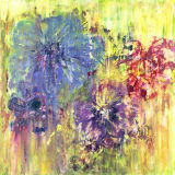Garden Flowers 1. SOLD. High quality Giglee prints available 50x50cm.