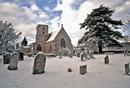 St Mary's Lower Heyford - midwinter snow