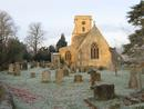 St Mary's Lower Heyford, Winter frost