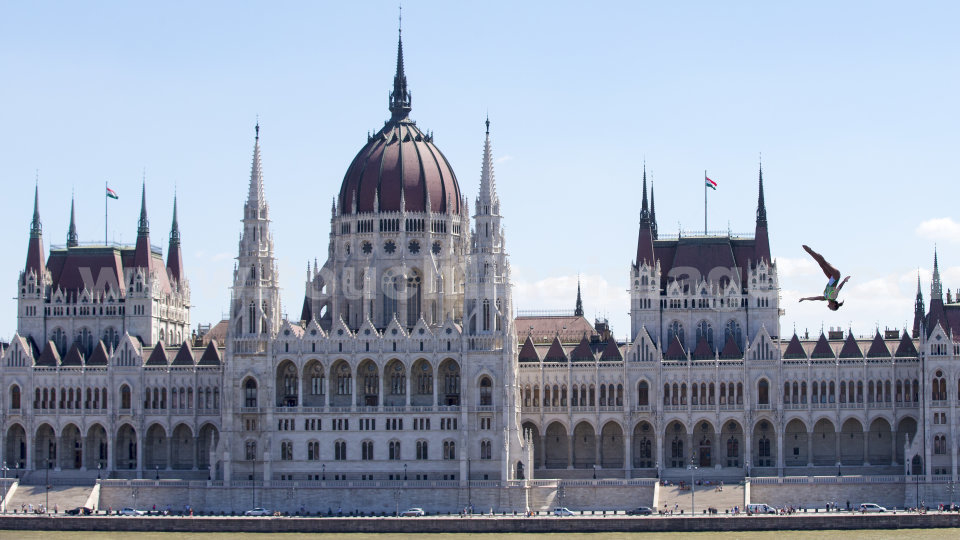 The Budapest Parliament Building, a perfect backdrop to the FINA High Diving World Championship 2017