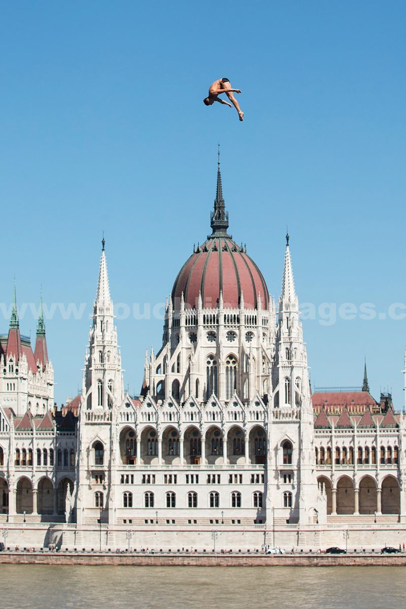 The Mens 27m platform in the High Diving event in Budapest