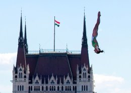 The Womens 20m platform in the High Diving event in Budapest