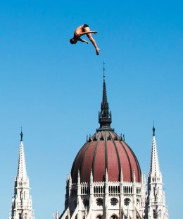 Mens 27m platform in the High Diving event in Budapest
