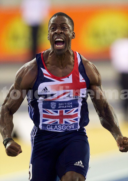 Dwain Chambers wins 60m indoor title in Glasgow