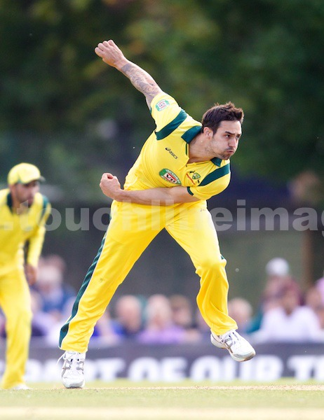 Mitchell Johnson in action for Australia