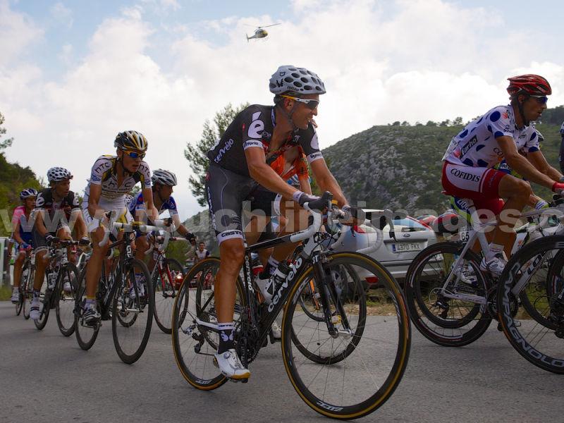 Carlos Sastre during La Vuelta 2010