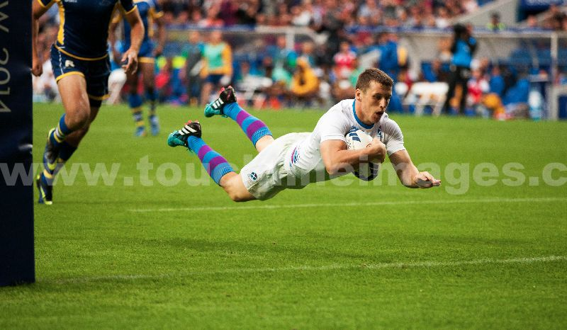 Scotland 7s M Bennet try