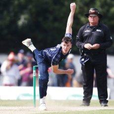 Scotland bowling against England