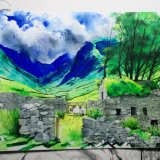 The Ruined barn above patterdale on the way to Hayeswater