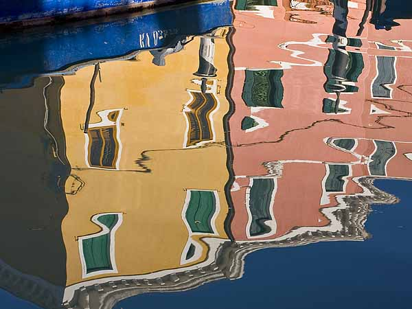 Burano Houses Reflected