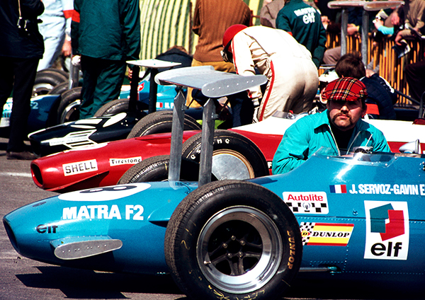 F2 cars in Paddock, Thruxton 1969
