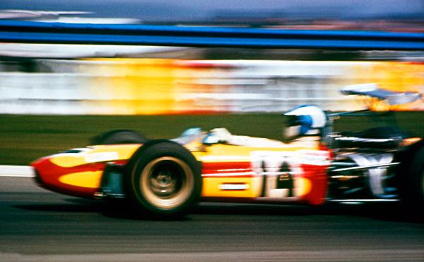 Francois Cevert, Tecno F2 at speed, Thruxton 1969
