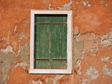 Green Shutters and Orange Wall