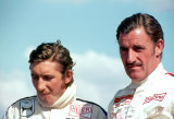Jo Siffert and Graham Hill.Thruxton 1969