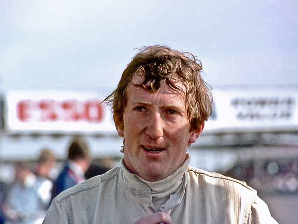 Jochen Rindt after winning F2 International Thruxton 1969