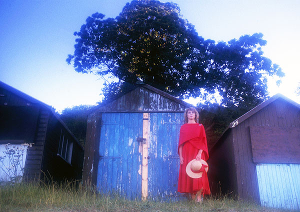 Lady in Red - Beach Huts