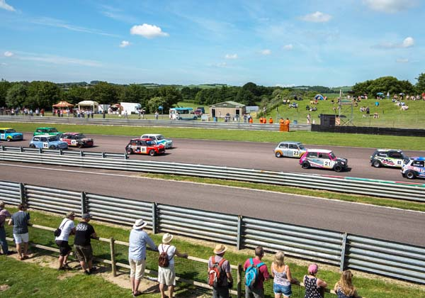 Mini racing viewed from the new Hospitality Centre