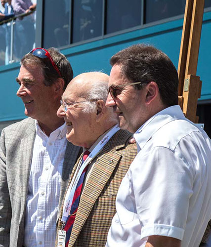 Nigel Mansell, Murray Walker and Bill Coombs