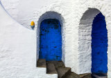 Steps and Blue Doors
