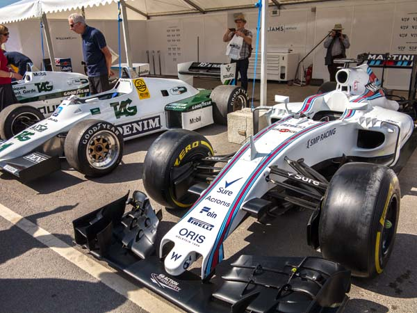 Williams F1 cars on display