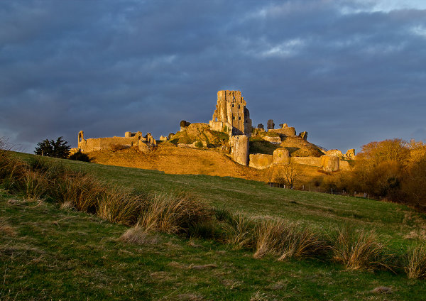 Corfe Castle, Evening Light