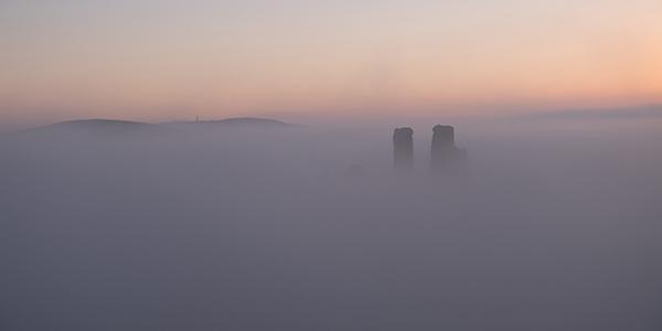 Corfe Castle in Mist