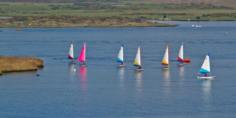 Christchurch Harbour Sailing Boats