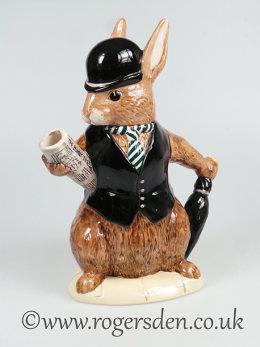 Bunnykins Teapot City Gent - D6966 Out of Stock