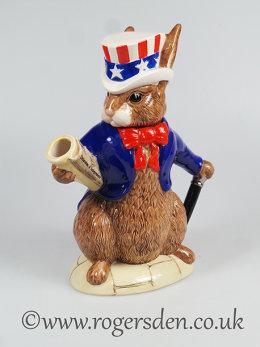 Bunnykins Teapot U.S.A. President - D6996