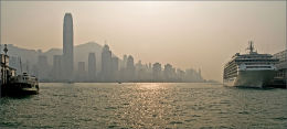 Afternoon haze. Hong Kong.