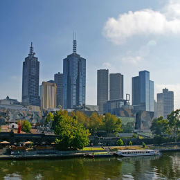 Melbourne and the River Yarra