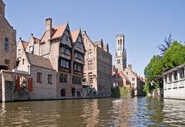 Bruges from Huidenvettersplein.