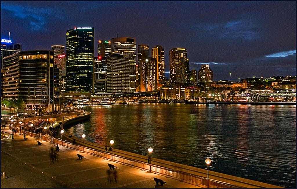 Circulay Quay Sydney Night View