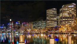 Darling Harbour Sydney At Night