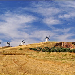 Don Quijote's Windmills. Spain.