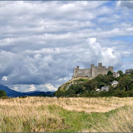 Harlech Castle. North Wales.