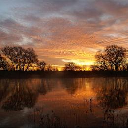 January Dawn. River Dee.