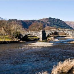 Llanrwst Bridge. North Wales.