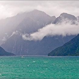 Milford Sound Entrance. New Zealand.