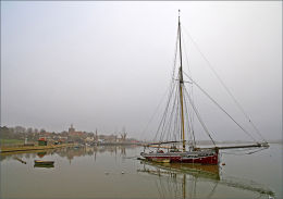Misty Day. Maldon in Essex.