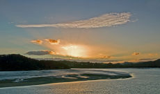 Sunset Over Waitangi River