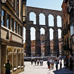 Segovia Roman Aquaduct. Spain.