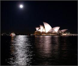 Sydney Opera House By Moonlight