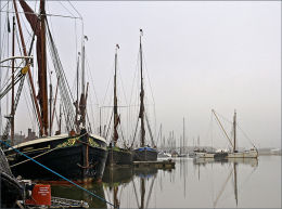 Thames Barges. Maldon in Essex.
