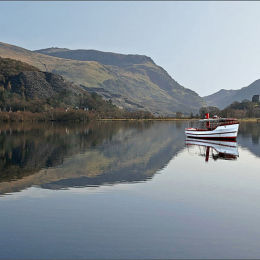 The Boat. Lake Llanberis. North Wales.