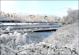 The Weir In Winter
