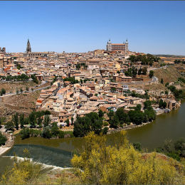 Toledo City & River. Spain.