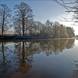 Winters Morning. River Dee.