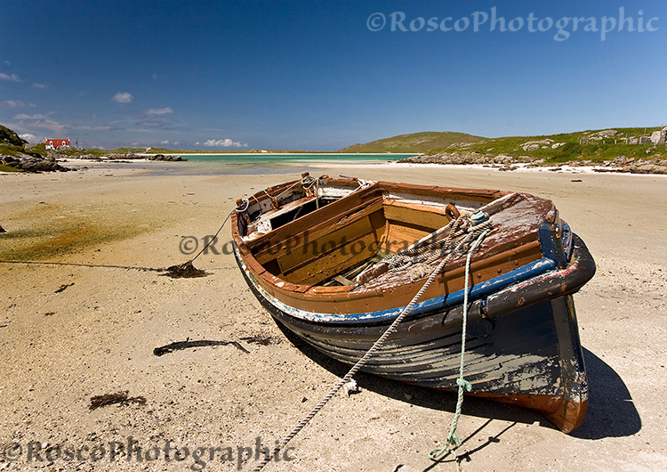 Boat near Cockle Strand, Isle of Barra