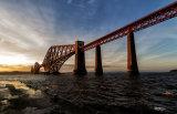 Forth Railway Bridge in the Golden Hour